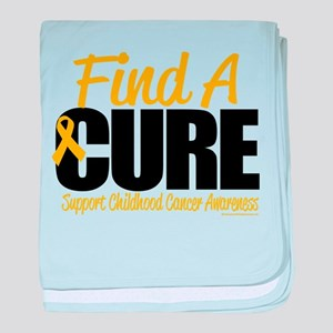 Childhood Cancer Find A Cure baby blanket