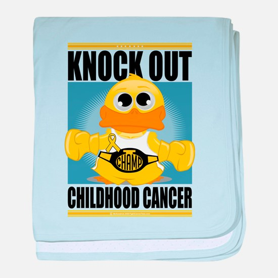 Knock Out Childhood Cancer baby blanket