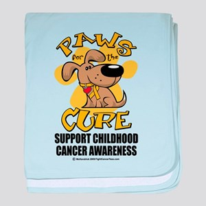 Childhood Cancer Paws for the baby blanket