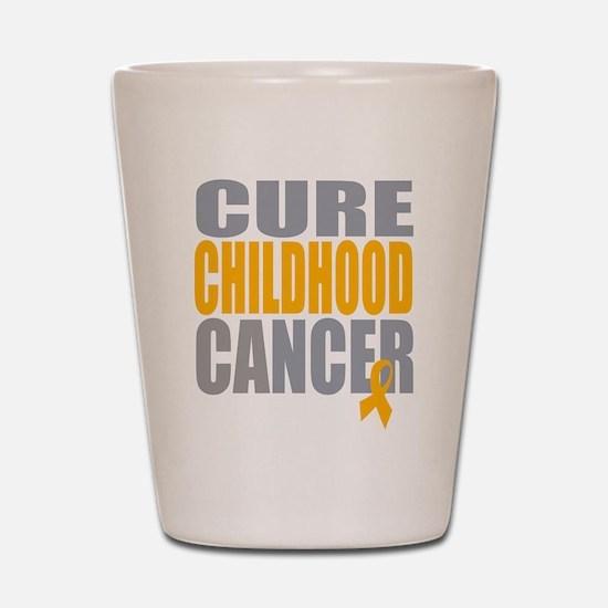 Cure Childhood Cancer Shot Glass