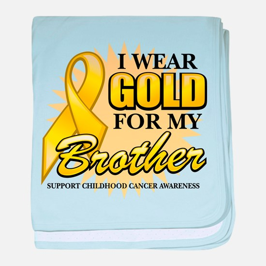 Gold For My Brother baby blanket