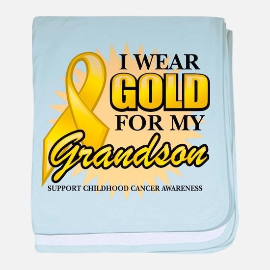 Gold For My Grandson baby blanket