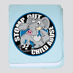 Stomp Out Child Abuse baby blanket