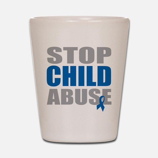 Stop Child Abuse 4 Shot Glass