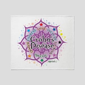Crohn's Disease Lotus Throw Blanket