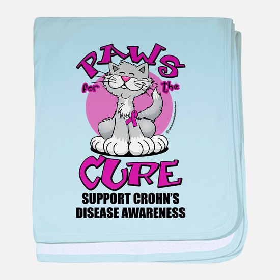 Paws For The Cure Crohn's Dis baby blanket