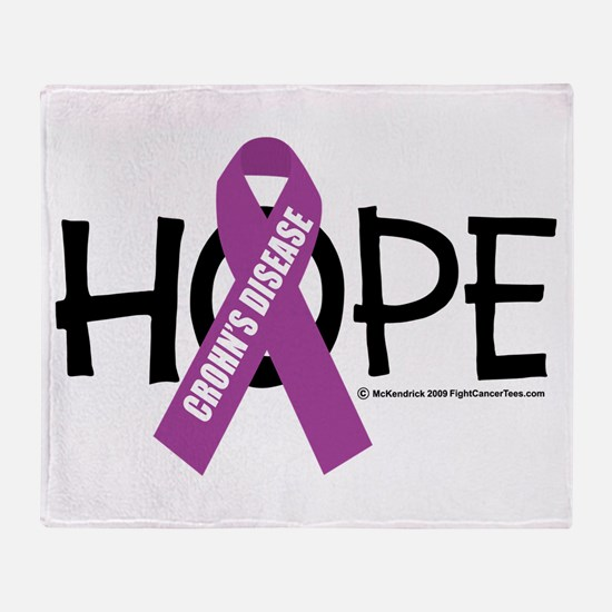Crohn's Disease Hope Throw Blanket
