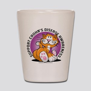 Crohn's Disease Cat Shot Glass