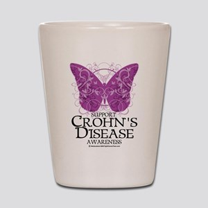 Crohn's Disease Butterfly Shot Glass