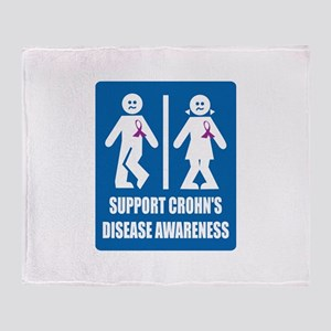 Crohn's Disease Throw Blanket