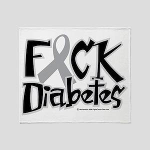 Fuck Diabetes Throw Blanket