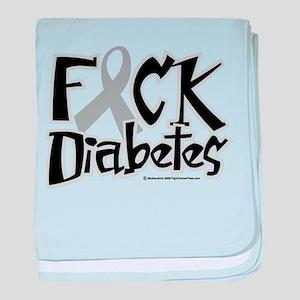 Fuck Diabetes baby blanket