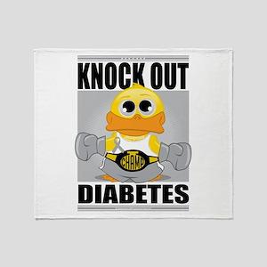 Knock Out Diabetes Throw Blanket