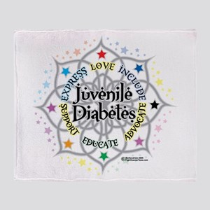 Juvenile Diabetes Lotus Throw Blanket