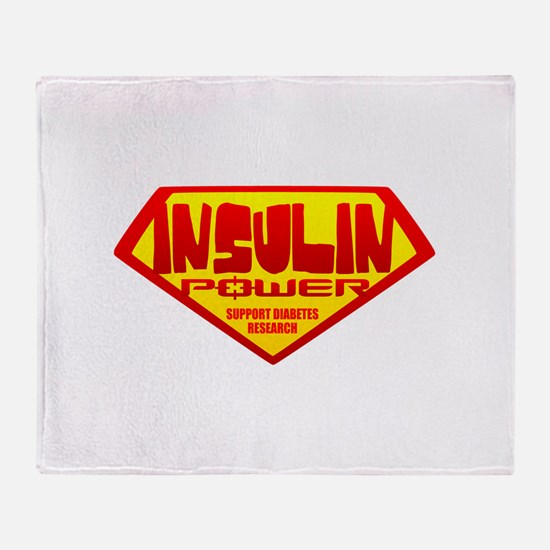 Insulin Power Throw Blanket