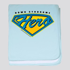 Down Syndrome Super Hero baby blanket