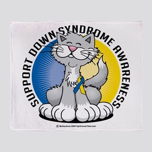 Paws For Down Syndrome Cat Throw Blanket