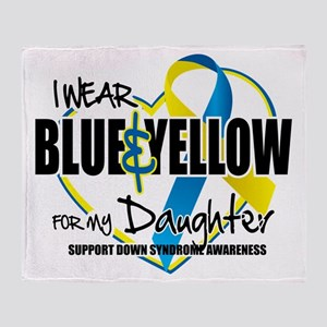 Blue & Yellow for Daughter Throw Blanket