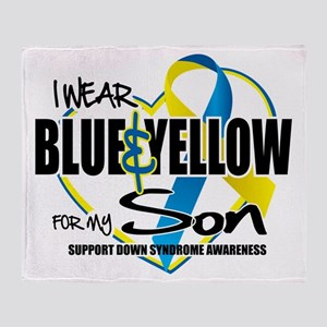 Blue & Yellow for Son Throw Blanket