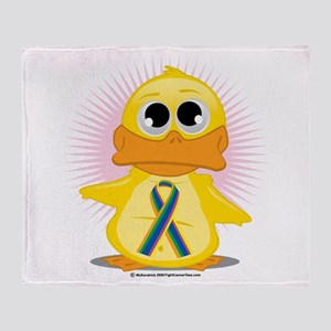 STD Ribbon Duck Throw Blanket