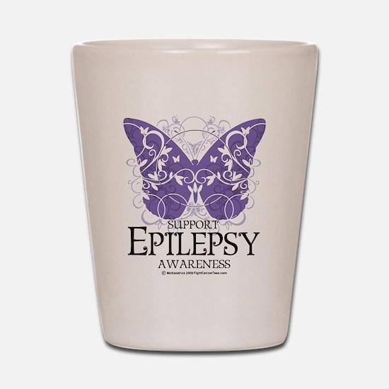 Epilepsy Butterfly Shot Glass