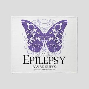 Epilepsy Butterfly Throw Blanket