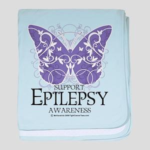 Epilepsy Butterfly baby blanket