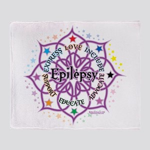 Epilepsy Lotus Throw Blanket