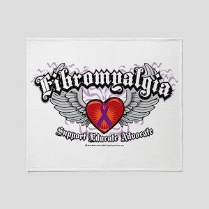 Fibromyalgia Wings Throw Blanket