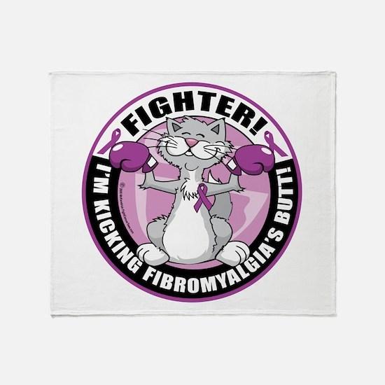 Fibromyalgia Cat Fighter Throw Blanket