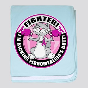 Fibromyalgia Cat Fighter baby blanket