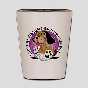 Fibromyalgia Dog Shot Glass