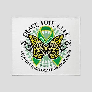 Gastroparesis Tribal Butterfl Throw Blanket