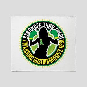 Gastroparesis Boxing Girl Throw Blanket