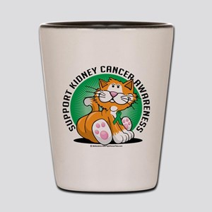 Kidney Cancer Cat Shot Glass