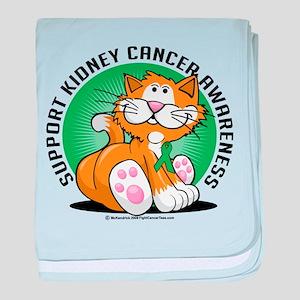 Kidney Cancer Cat baby blanket