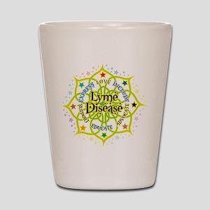 Lyme Disease Lotus Shot Glass