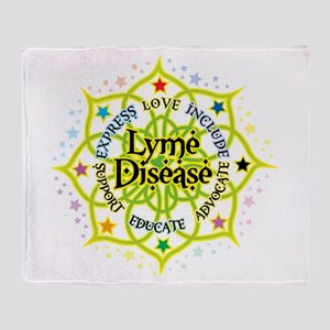 Lyme Disease Lotus Throw Blanket
