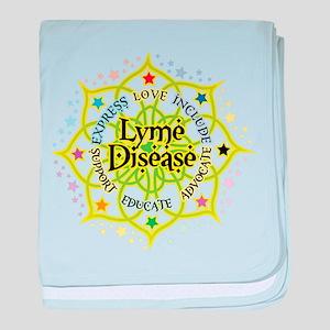 Lyme Disease Lotus baby blanket