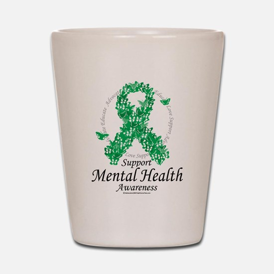 Mental Health Ribbon of Butte Shot Glass