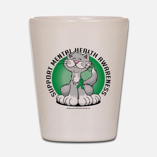 Mental Health Cat Shot Glass