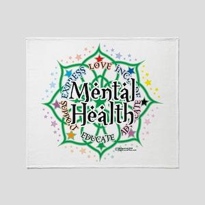 Mental Health Lotus Throw Blanket