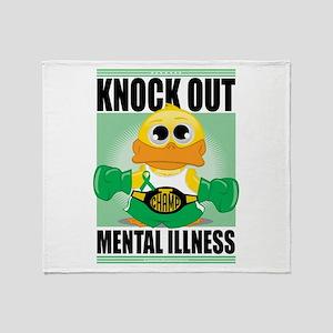 Knock Out Mental Illness Throw Blanket