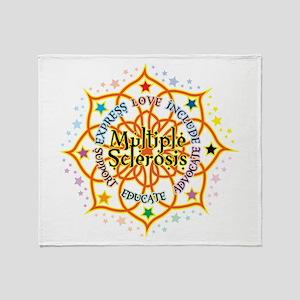 Multiple Sclerosis Lotus Throw Blanket