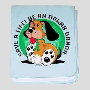 Organ Donor Dog baby blanket