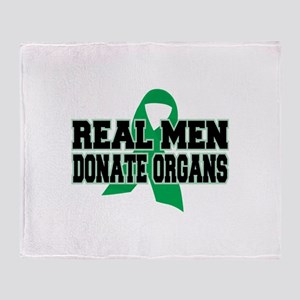 Real Men Donate Organs Throw Blanket