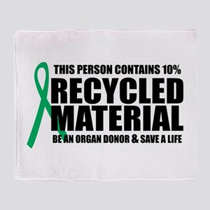 Organ Donor: Recycled Materia Throw Blanket