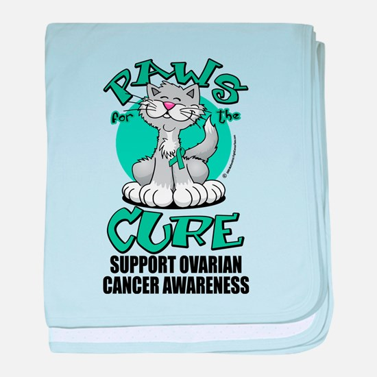 Ovarian Cancer Paws for the C baby blanket