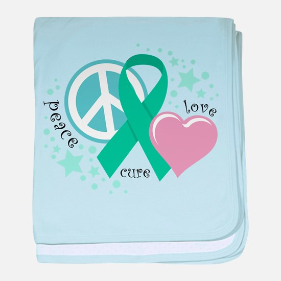 Ovarian Cancer PLC baby blanket