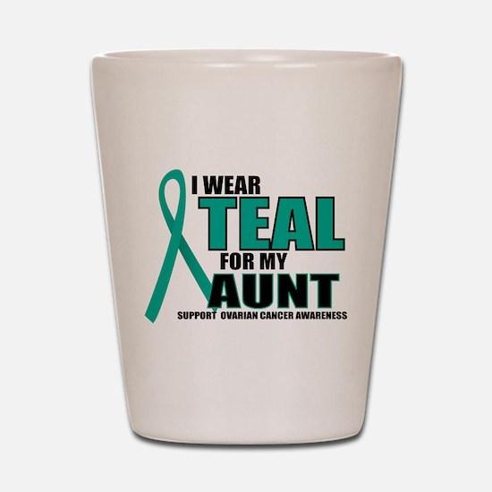 OC: Teal For Aunt Shot Glass